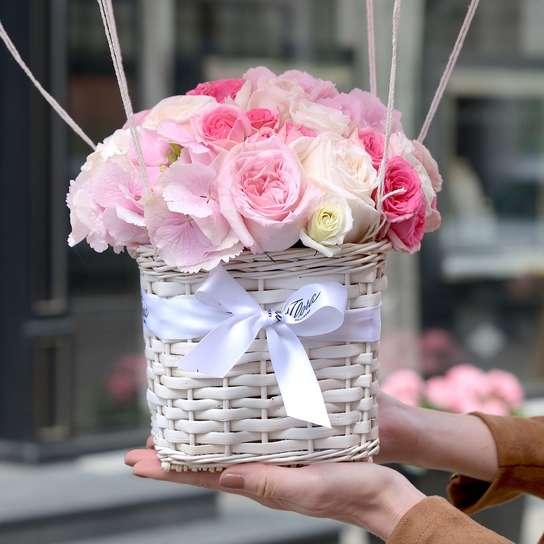 Букет в корзинке уход, заказать доставкой цветы алматы